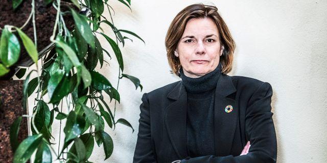 Sveriges klimat- och miljöminister Isabella Lövin (MP). Tomas Oneborg/SvD/TT / TT NYHETSBYRÅN