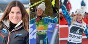 Pernilla Wiberg, Anna Swenn-Larsson och Frida Hansdotter.  Bildbyrån.