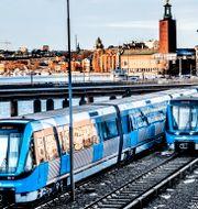 Arkivbild. SL:s tunnelbanetåg. Tomas Oneborg/SvD/TT / TT NYHETSBYRÅN