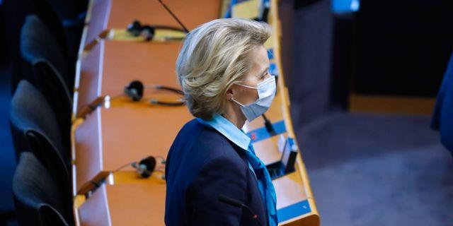 EU:s ordförande Ursula von der Leyen. ARIS OIKONOMOU / TT NYHETSBYRÅN