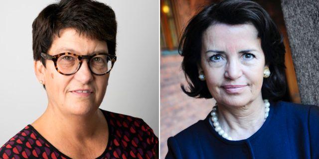 Helle Klein och Anne Ramberg.  TU/TT