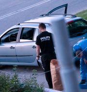 Kriminaltekniker på brottsplatsen. Johan Nilsson/TT / TT NYHETSBYRÅN