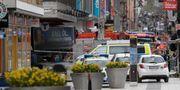 Bild från polisinsatsen på Drottninggatan. TT NEWS AGENCY / TT NYHETSBYRÅN
