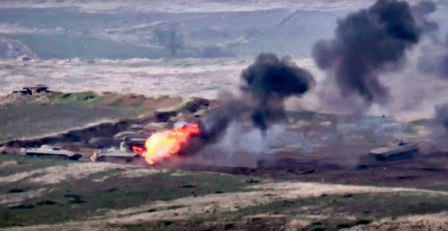 Bild från det armeniska försvarsdepartementet.  TT NYHETSBYRÅN