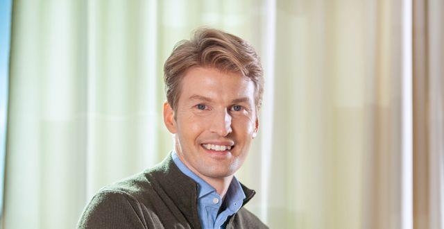 Gustaf Linnell, fondförvaltare på SPP. Fredrik Hjerling