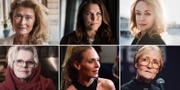 Lena Endre, Mia Skäringer, Livia Millhagen, Marie Göranzon, Eva Röse, Ann Petrén. TT