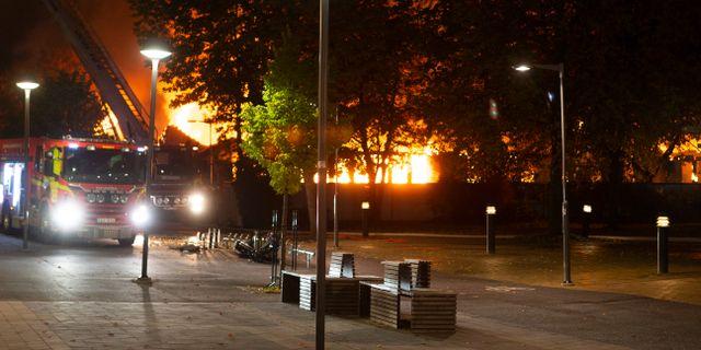 Bild från branden. Staffan Claesson