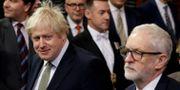 Brittiska premiärministern Boris Johnson och Labourledaren Jeremy Corbyn. POOL New / TT NYHETSBYRÅN