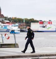 Polisinsatsen vid Stenpiren i Göteborg.  Adam Ihse/TT / TT NYHETSBYRÅN