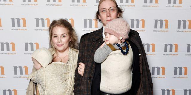 Poddarna Anna Björklund och Kristoffer Svensson. Stina Stjernkvist/TT / TT NYHETSBYRÅN