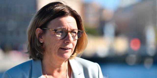 Miljöminister Isabella Lövin (MP). Karin Wesslén/TT / TT NYHETSBYRÅN
