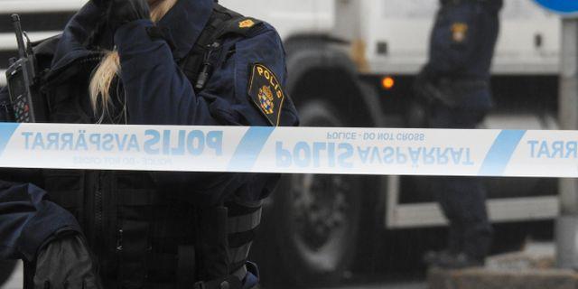 Den misstänkte mannen har nu släppts fri.  Pontus Stenberg/TT / TT NYHETSBYRÅN