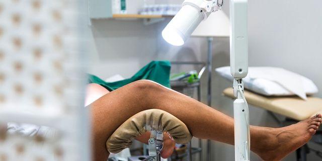 Kvinna undersöks av gynekolog, cellprov för livmoderhalscancer isabell Höjman/TT / TT NYHETSBYRÅN