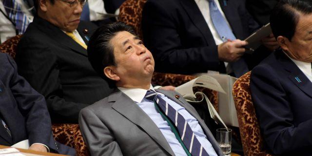 Japans premiärminister Shinzo Abe KAZUHIRO NOGI / AFP