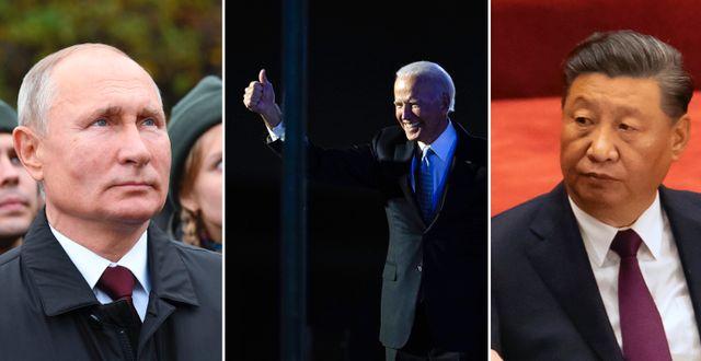 Vladimir Putin. Joe Biden. Xi Jinping. TT