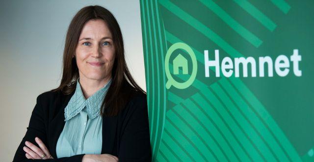 Cecilia Beck-Friis, vd på Hemnet. Fredrik Sandberg/TT / TT NYHETSBYRÅN