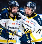 HV71:s Jessica Healey och Anna Kjellbin/Arkivbild. SIMON HASTEGÅRD / BILDBYRÅN