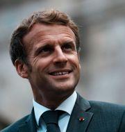 Emmanuel Macron.  Thibault Camus / TT NYHETSBYRÅN
