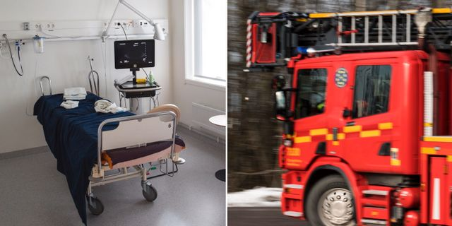 Sjukhusbrand kan vara anlagd