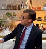 Nyhetsmorgons Martin Järborg och Ulf Kristersson. TV4