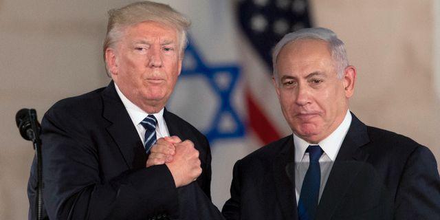 Donald Trump och Benjamin Netanyahu. Sebastian Scheiner / TT NYHETSBYRÅN/ NTB Scanpix