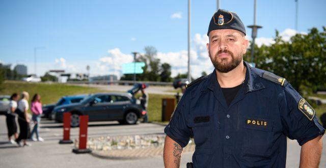 Martin Lazar, kommunpolis i Botkyrka Henrik Montgomery/TT / TT NYHETSBYRÅN