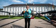 Angela Merkel under en presskonferens den 23 maj.  BERND VON JUTRCZENKA / dpa