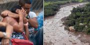 Människor saknar sina anhöriga efter dammkatastrofen i Brasilien.  TT