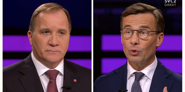 Löfven och Kristersson. SVT