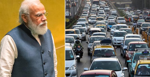 Narendra Modi/trafik i Mumbai. TT