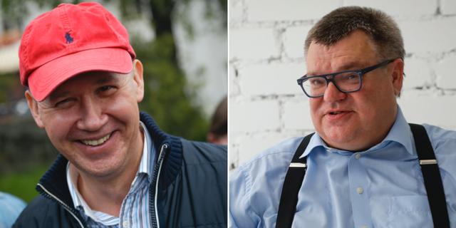 Valeryj Tsapkala och Viktar Babaryka.  TT