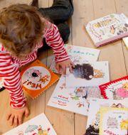 Böcker av illustratören och barnboksförfattaren Stina Wirsén. Arkivbild.  HENRIK MONTGOMERY / TT / TT NYHETSBYRÅN