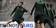 Zlatan Ibrahimovic tränar med Hammarby IF.  JONATHAN NACKSTRAND / TT NYHETSBYRÅN