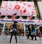 Pinterest noterades på Wall Street den 18 april 2019. Richard Drew / TT NYHETSBYRÅN