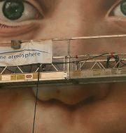 Greta Thunberg på väggen i San Francisco. Ben Margot / TT NYHETSBYRÅN