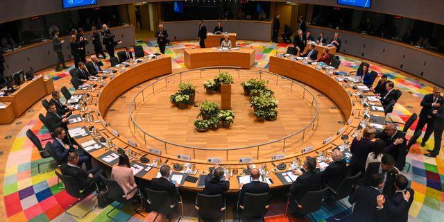 Extrainsatt toppmöte i Bryssel om EU-budgeten. Riccardo Pareggiani / TT NYHETSBYRÅN