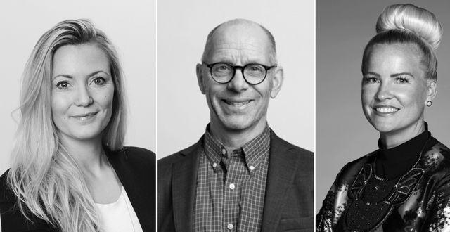 Linnéa Schmidt, Pär Hedberg, Maria Kessling. Pressbilder