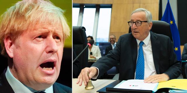 Boris Johnson och Jean-Claude Juncker träffas imorgon. TT