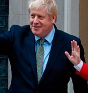 Boris Johnson och EU-kommisionens ordförande Ursula von der Leyen. TOLGA AKMEN / AFP