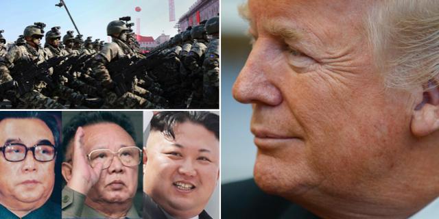 Nordkoreas tre generationer av ledare. TT
