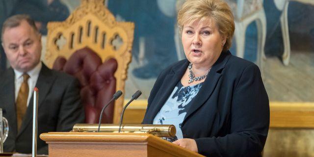 Erna Solberg. Kallestad, Gorm / TT NYHETSBYRÅN