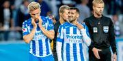 Besvikna IFK Göteborgsspelare. Adam Ihse/TT / TT NYHETSBYRÅN