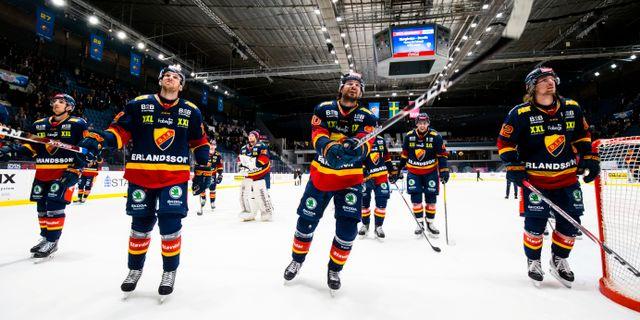 Djurgårdenspelarna firar. ANDREAS SANDSTRÖM / BILDBYRÅN