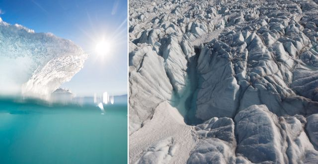 Grönlandsisen. Arkivbilder. TT