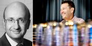 Harry Klagsbrun och EQT-profilen Conni Jonsson.  Pressbild och TT.