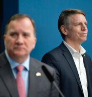Statsminister Stefan Löfven (S) och Per Bolund (MP).  Anders Wiklund/TT / TT NYHETSBYRÅN
