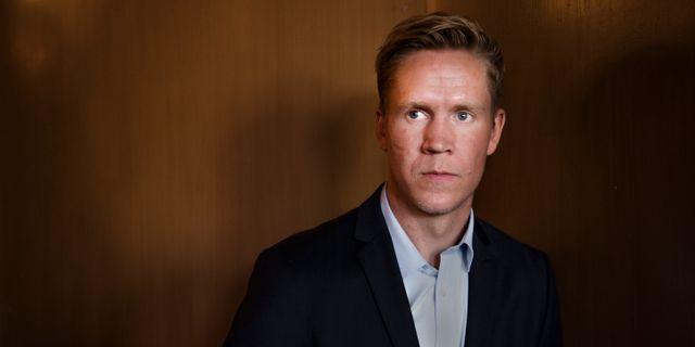Andreas Engqvist under en presskonferens SIMON HASTEGÅRD / BILDBYRÅN