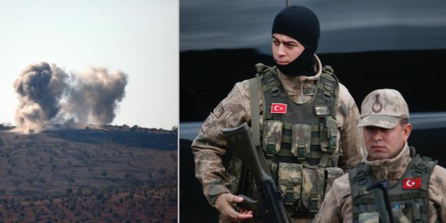 Turkiska militärer inför militäroffensiven TT