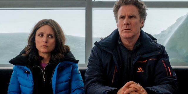 """Julia Louis-Dreyfus och Will Ferrell i """"Downhill"""". Jaap Buitendijk / TT NYHETSBYRÅN"""