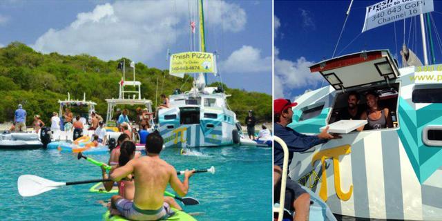 Tara och Sasha Bouis släppte allt och öppnade pizzabåt på Amerikanska Jungfruöarna 2014. Sailing Europe / wherethecoconutsgrow.com